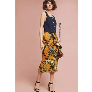 Anthropologie Sunflower Ruffled Skirt 4 by PatBO